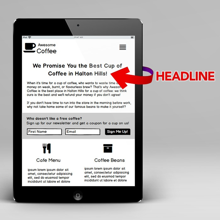 headlines are important for capturing your target audience's attention