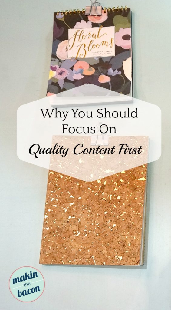 quality content - focus on the quality of your content and give the readers something of value #contentstrategy #contentcreator