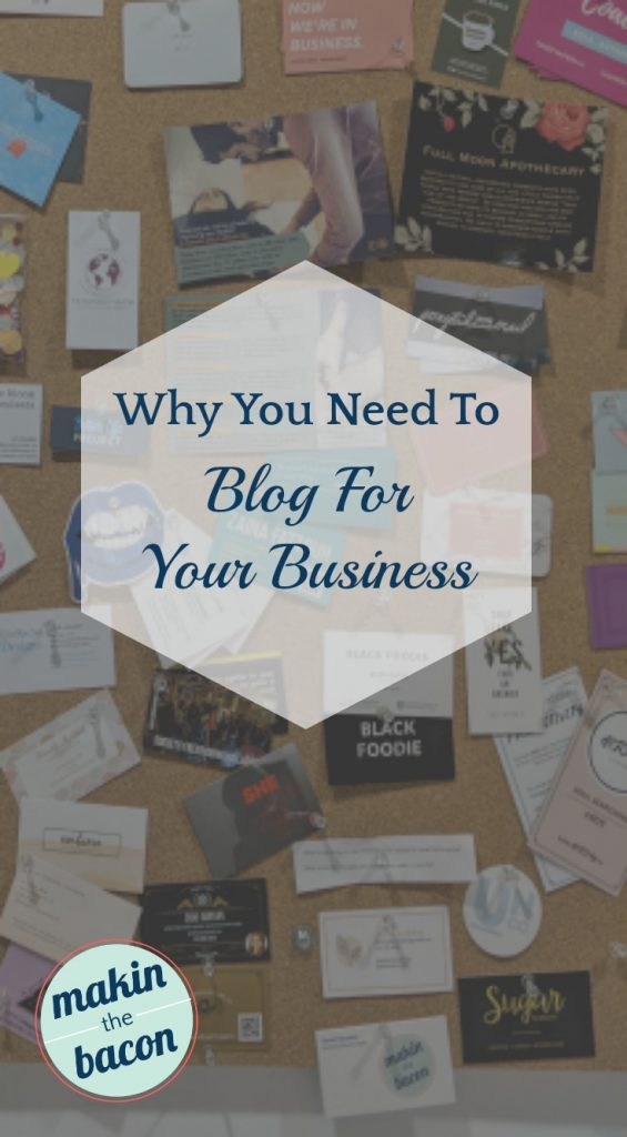 In order to help create an online presence, you need to blog for your business