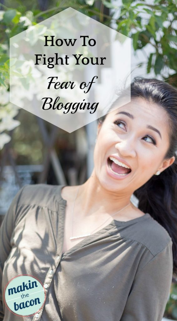 get over your fear of blogging
