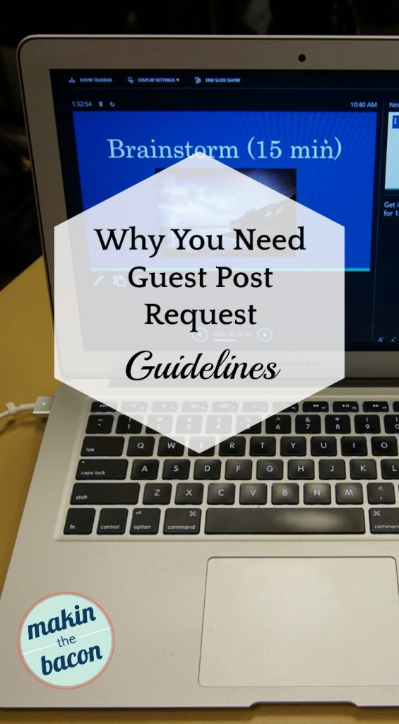 Guest Post Request Guidelines are helpful in that they set clear expectations for guest posts
